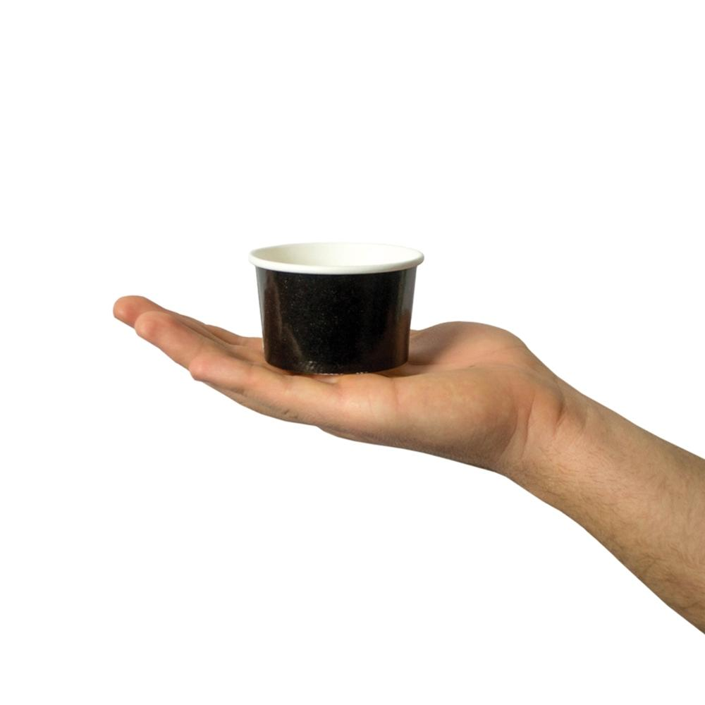 UNIQ 4 oz Black Take Out Cups