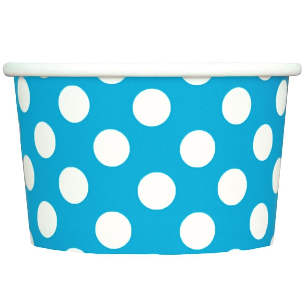 UNIQ 4 oz Blue Polka Dotty Take Out Cups