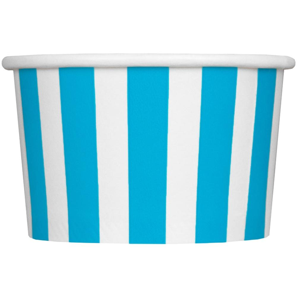 UNIQ 4 oz Blue Striped Madness Take Out Cups