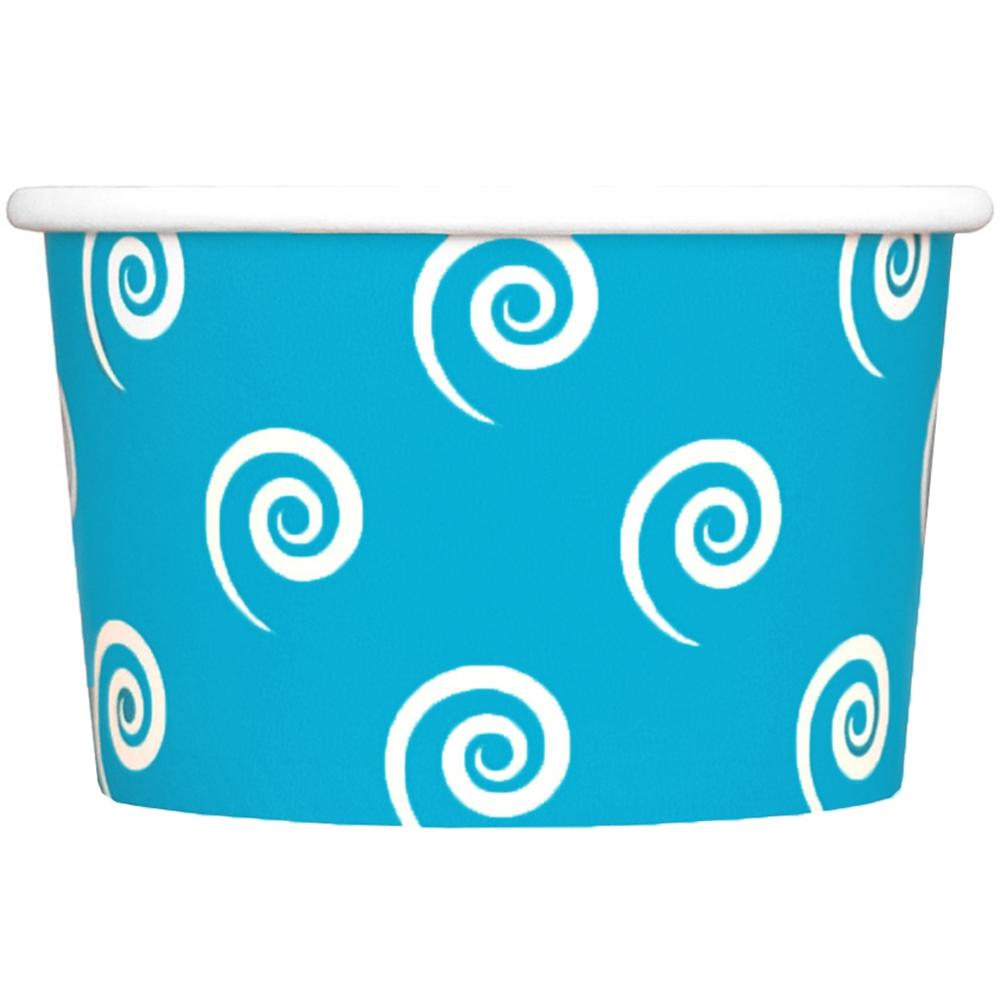 UNIQ 4 oz Blue Swirls and Twirls Take Out Cups