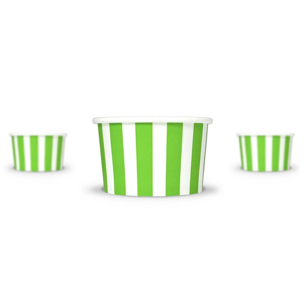 UNIQ 4 oz Green Striped Madness Take Out Cups