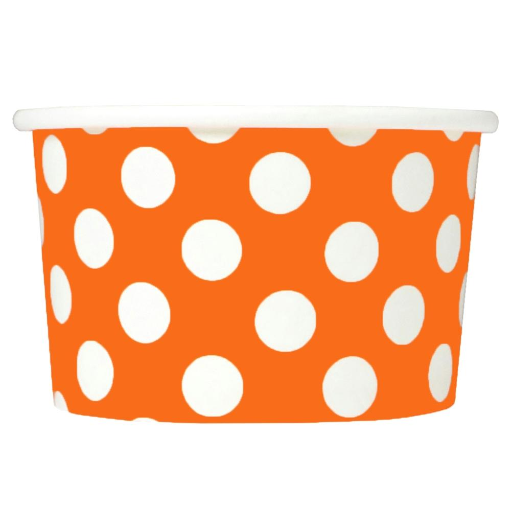 UNIQ 4 oz Orange Polka Dotty Take Out Cups