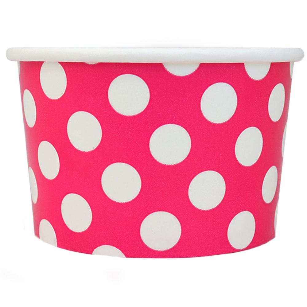 UNIQ 4 oz Pink Polka Dotty Take Out Cups