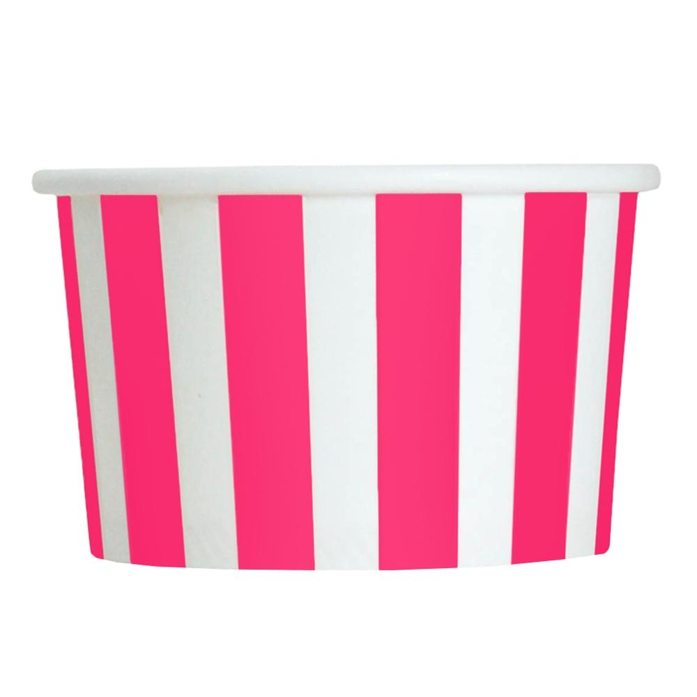UNIQ 4 oz Pink Striped Madness Take Out Cups