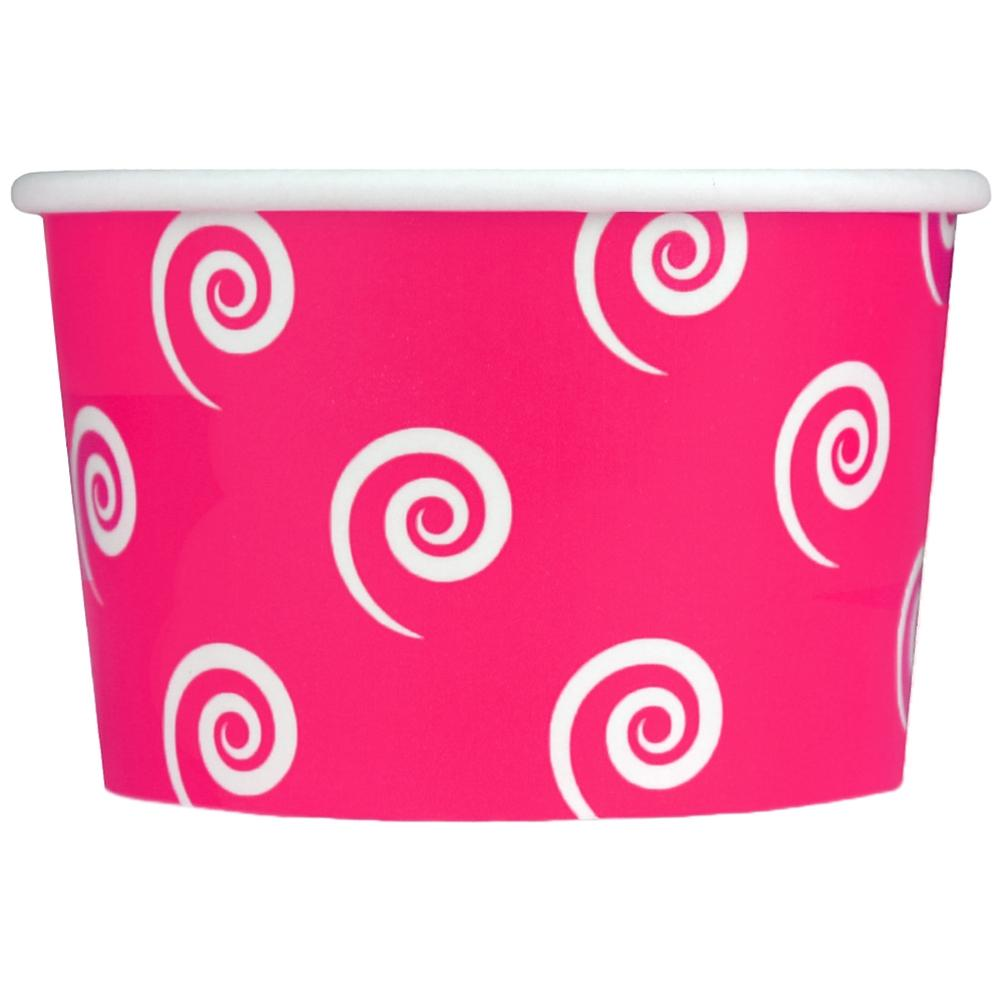 UNIQ 4 oz Pink Swirls and Twirls Take Out Cups