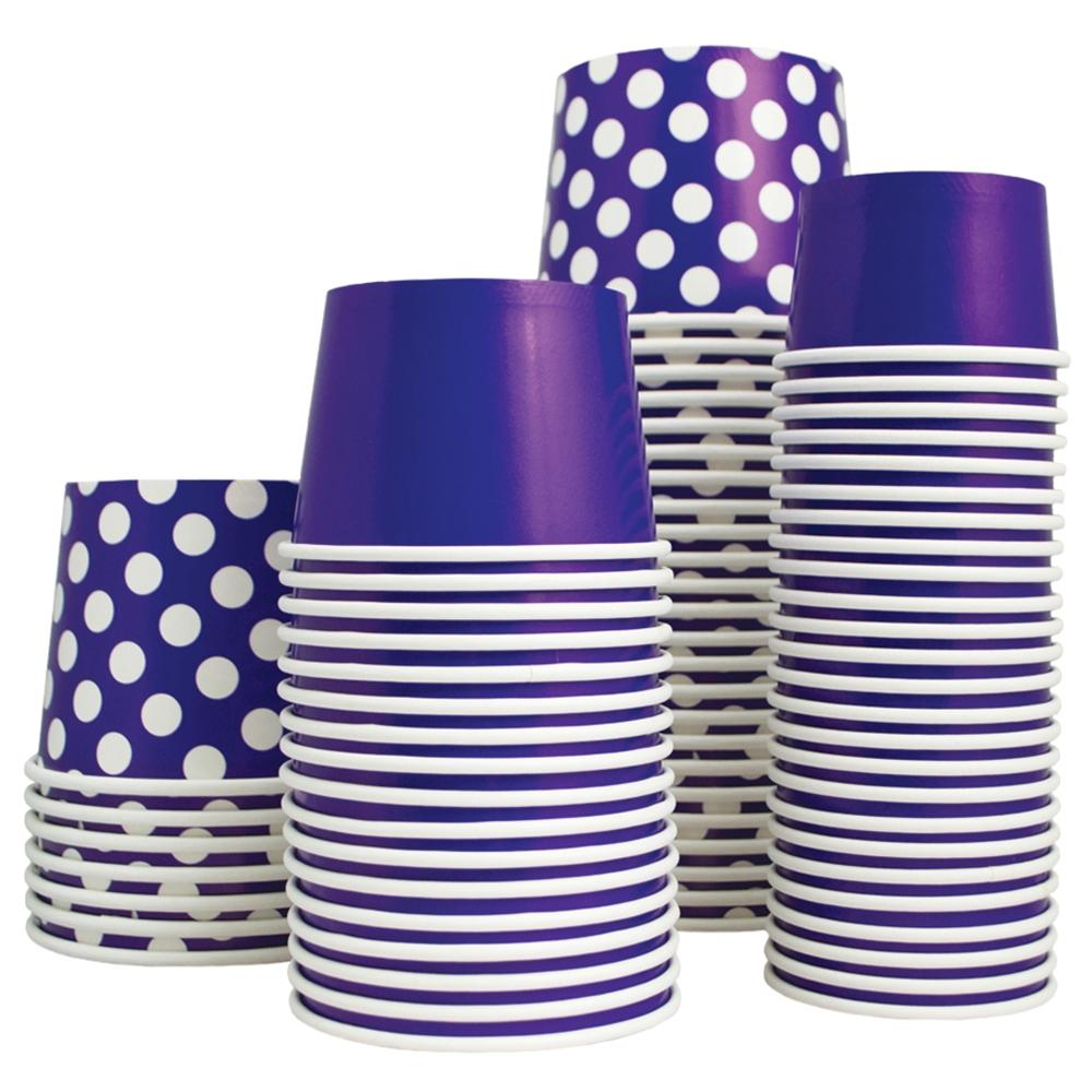 UNIQ 4 oz Purple Swirls and Twirls Take Out Cups