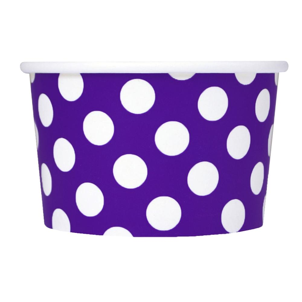 UNIQ 4 oz Purple Polka Dotty Take Out Cups
