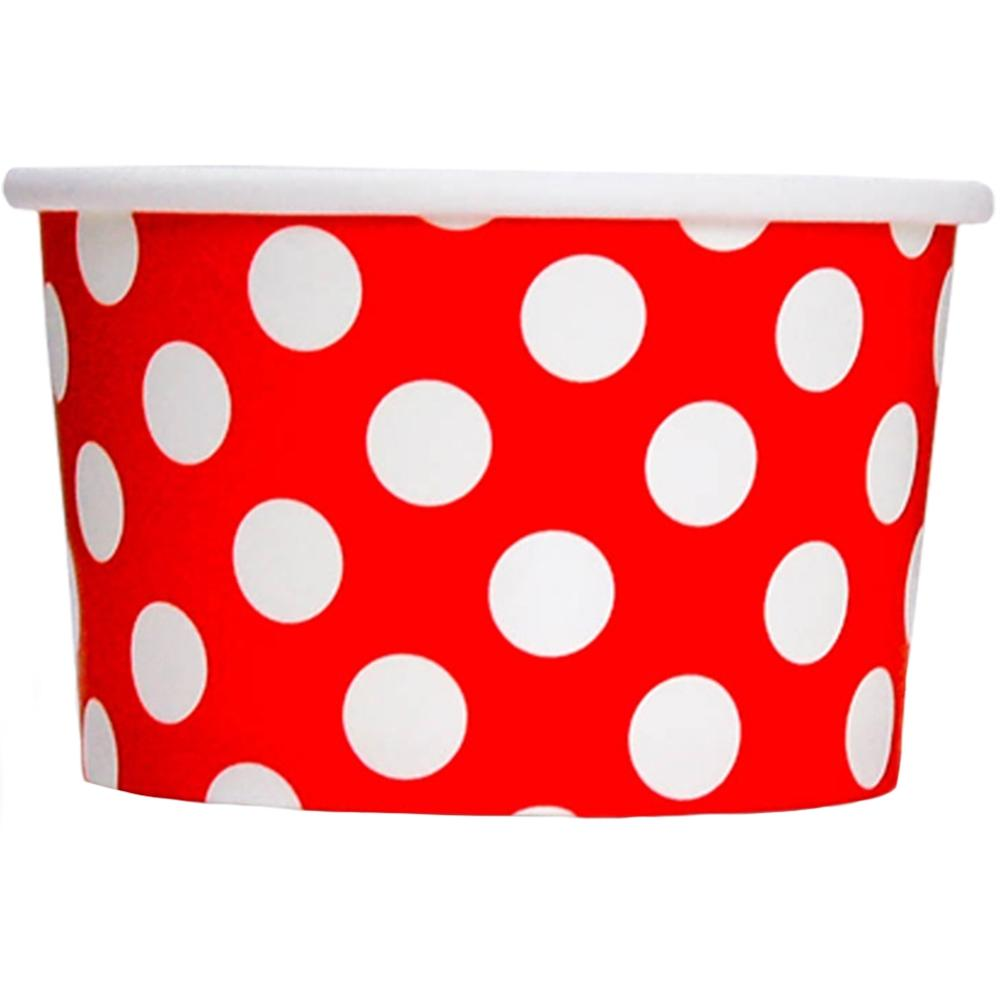 UNIQ 4 oz Red Polka Dotty Take Out Cups
