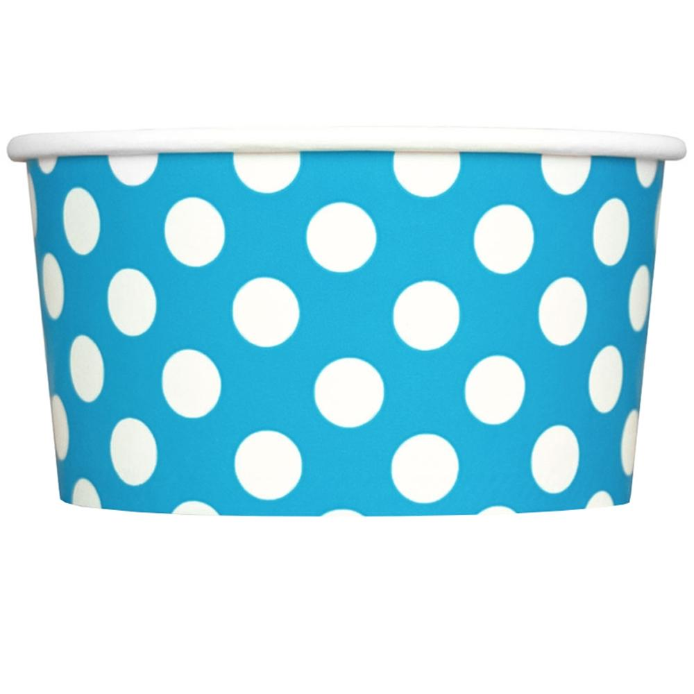 UNIQ 6 oz Blue Polka Dotty Take Out Cups