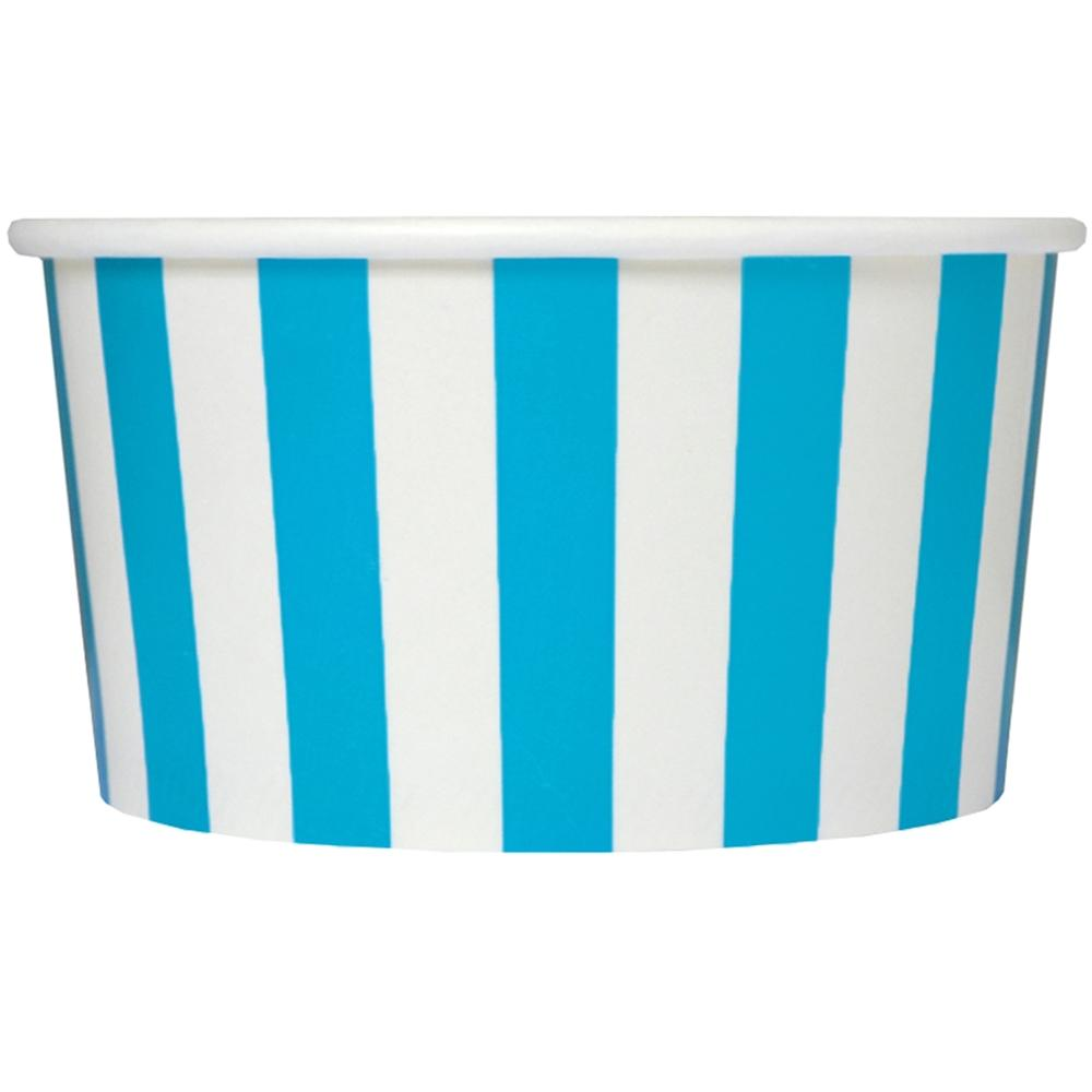 UNIQ 6 oz Blue Striped Madness Take Out Cups