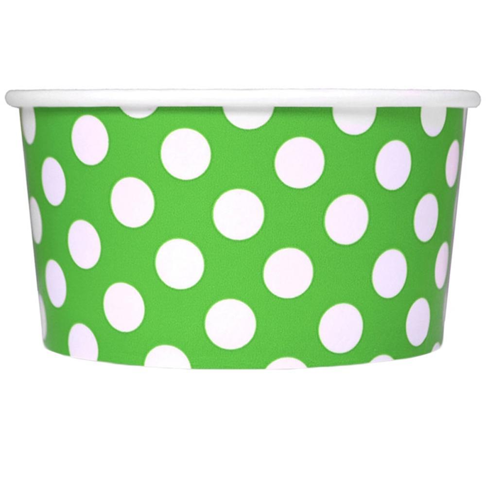 UNIQ 6 oz Green Polka Dotty Take Out Cups