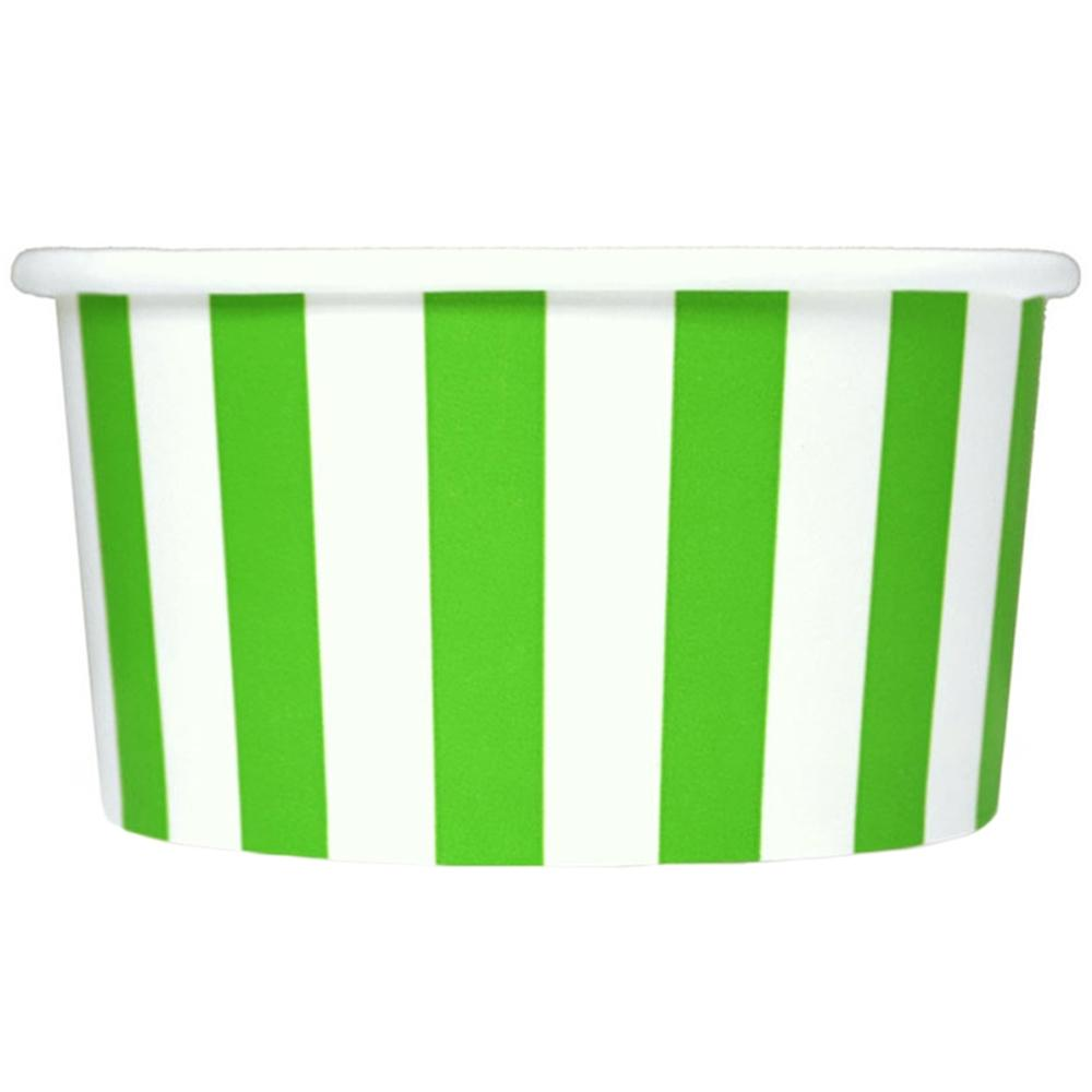 UNIQ 6 oz Green Striped Madness Take Out Cups