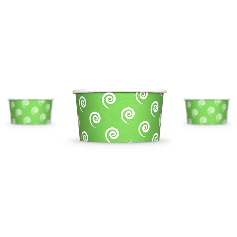UNIQ 6 oz Green Swirls and Twirls Take Out Cups