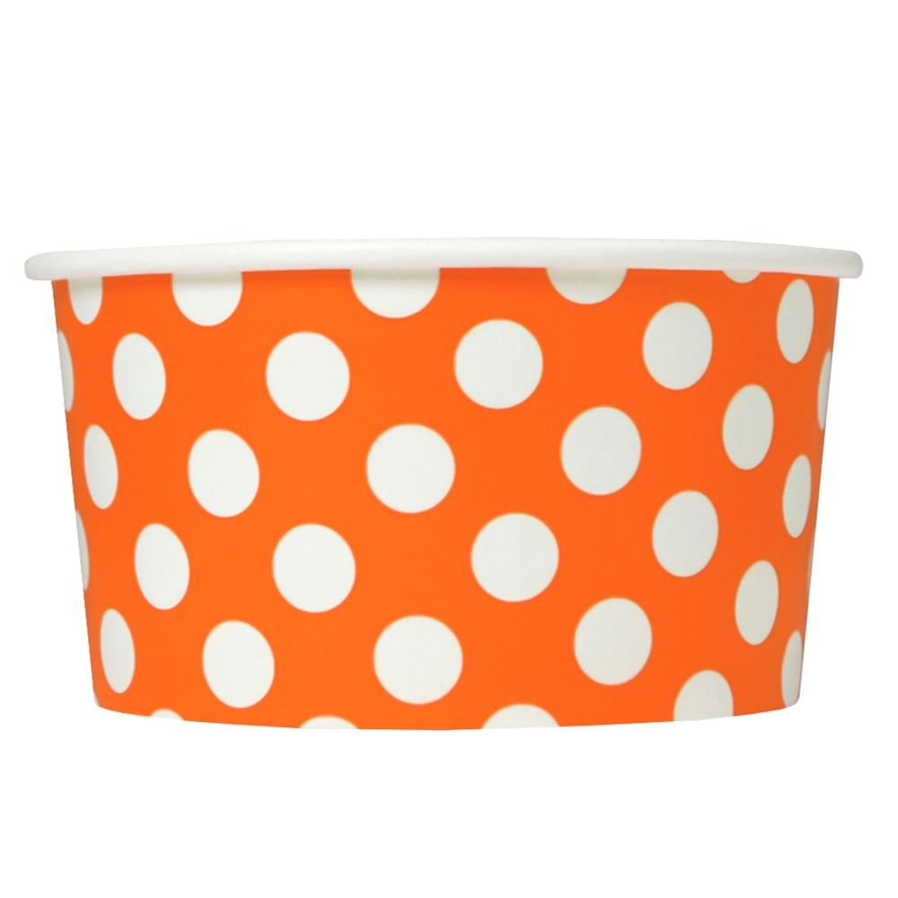 UNIQ 6 oz Orange Polka Dotty Take Out Containers