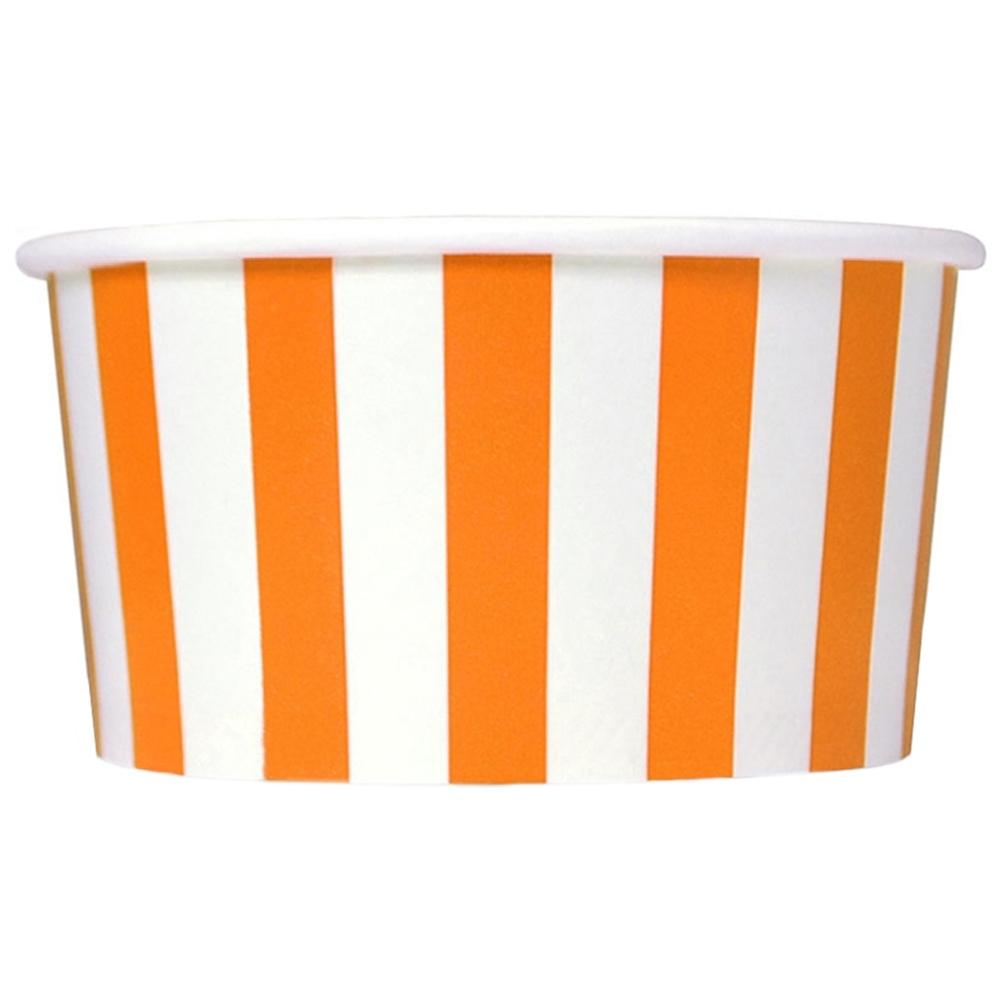 UNIQ 6 oz Orange Striped Madness Take Out Cups