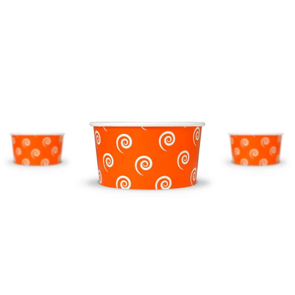 UNIQ 6 oz Orange Swirls and Twirls Take Out Cups