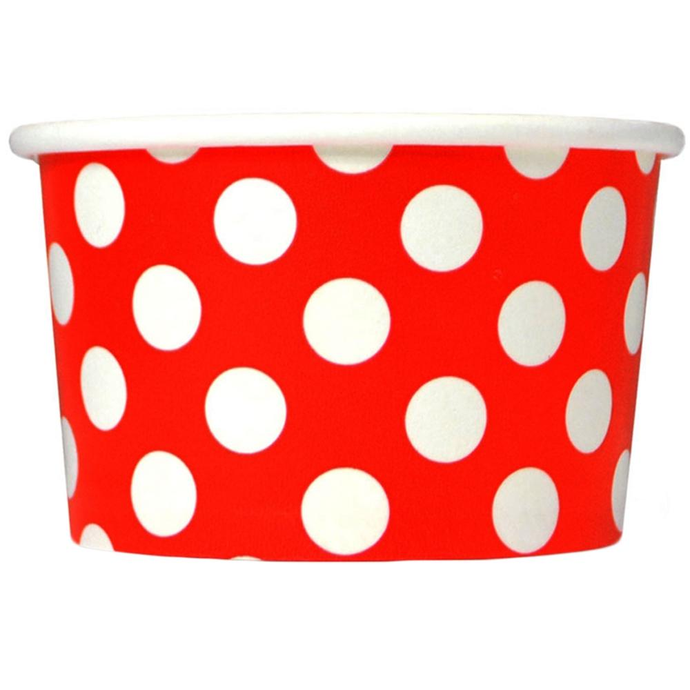 UNIQ 6 oz Red Polka Dotty Take Out Cups