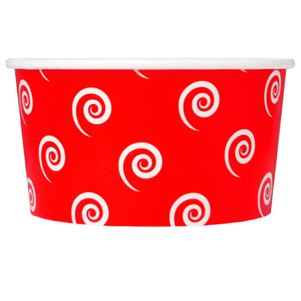 UNIQ 6 oz Red Swirls and Twirls Take Out Cups