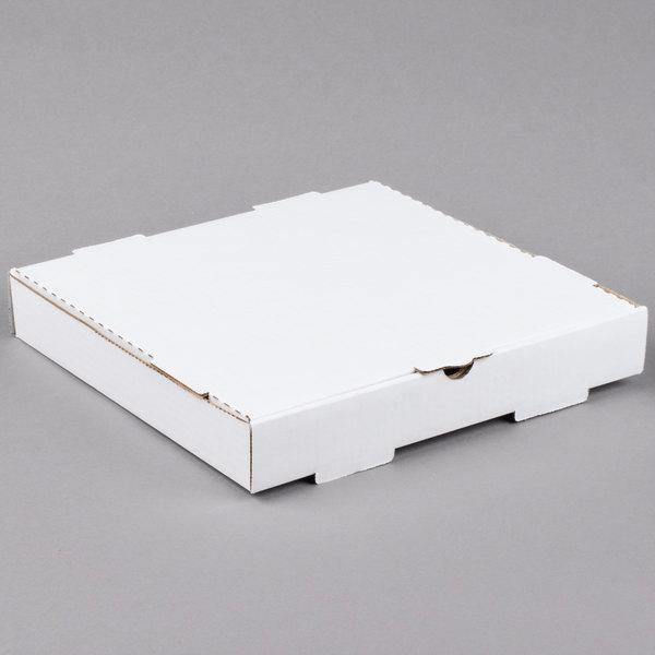 "14"" x 14"" x 1 3/4"" White Pizza Box"