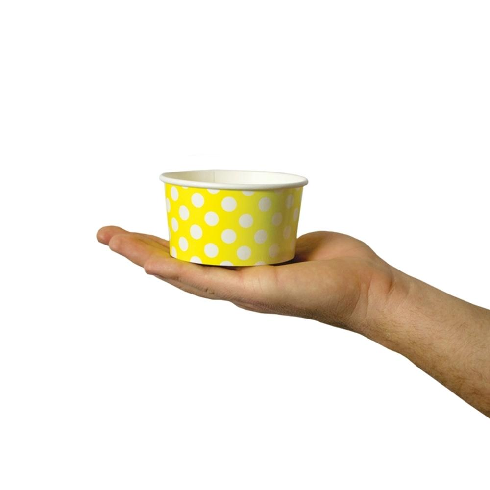 UNIQ 6 oz Yellow Polka Dotty Take Out Cups