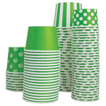 UNIQ 8 oz Green Polka Dotty Take Out Cups
