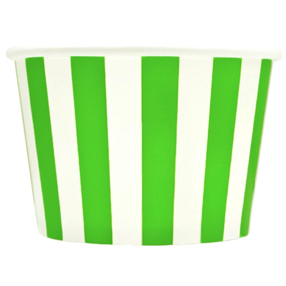 UNIQ 8 oz Green Striped Madness Take Out Cups