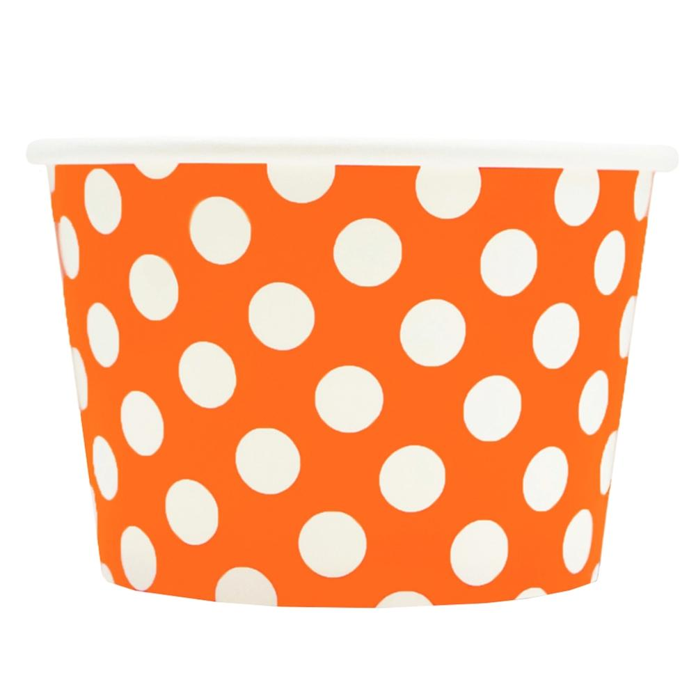 UNIQ 8 oz Orange Polka Dotty Take Out Cups