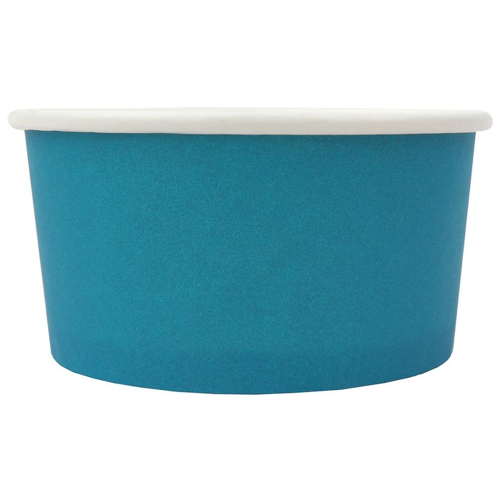UNIQ 6 oz Blue Eco-Friendly Compostable Take Out Cups