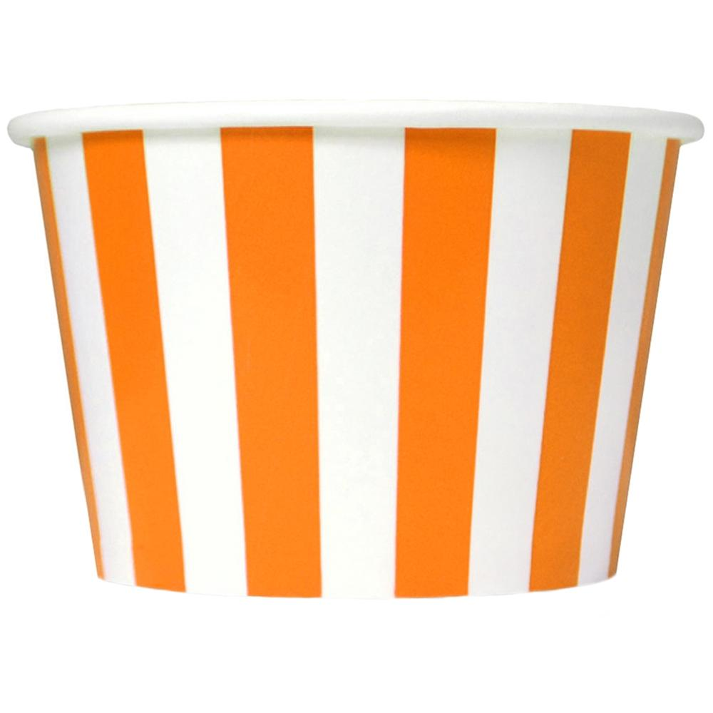 UNIQ 8 oz Orange Striped Madness Take Out Cups