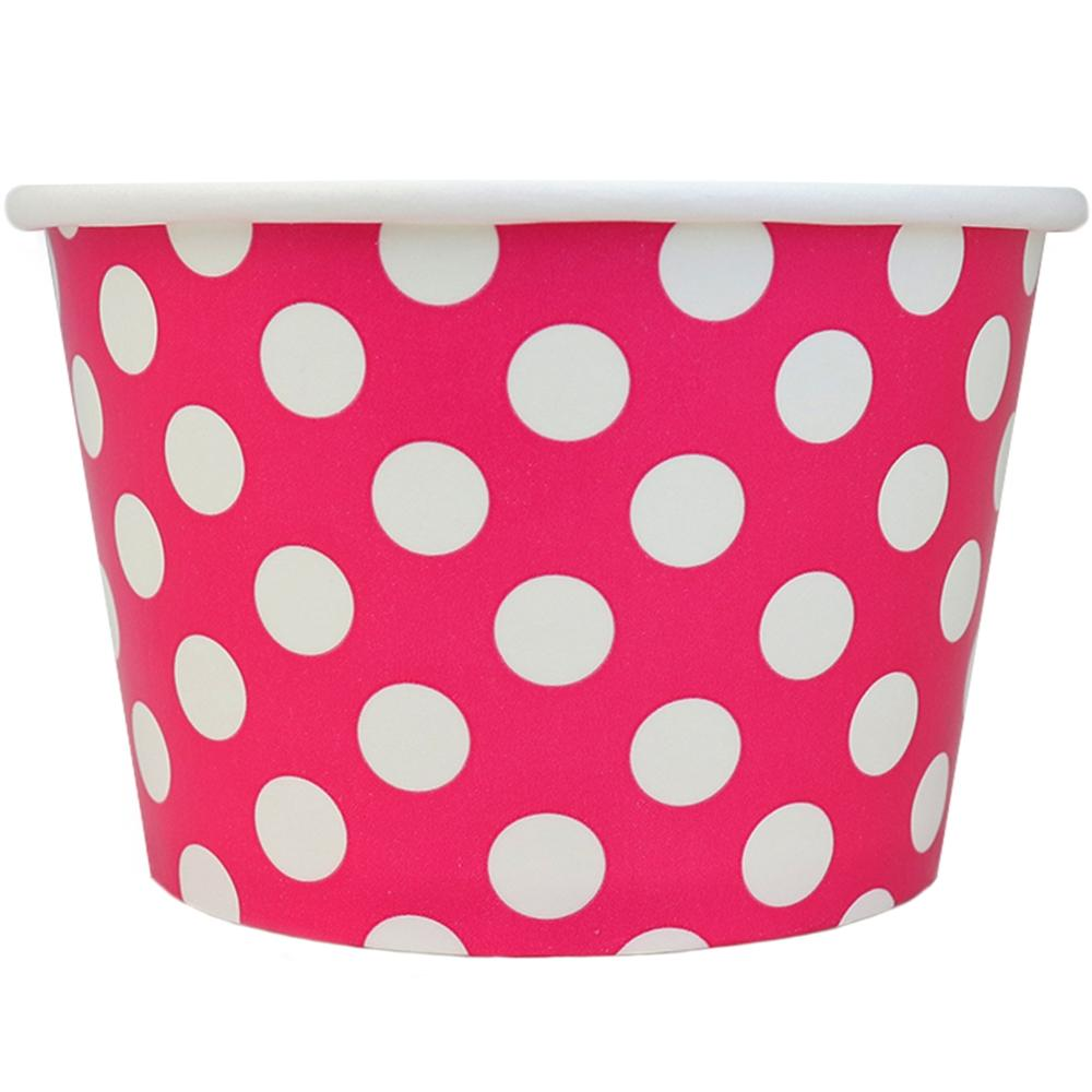 UNIQ 8 oz Pink Polka Dotty Take Out Cups