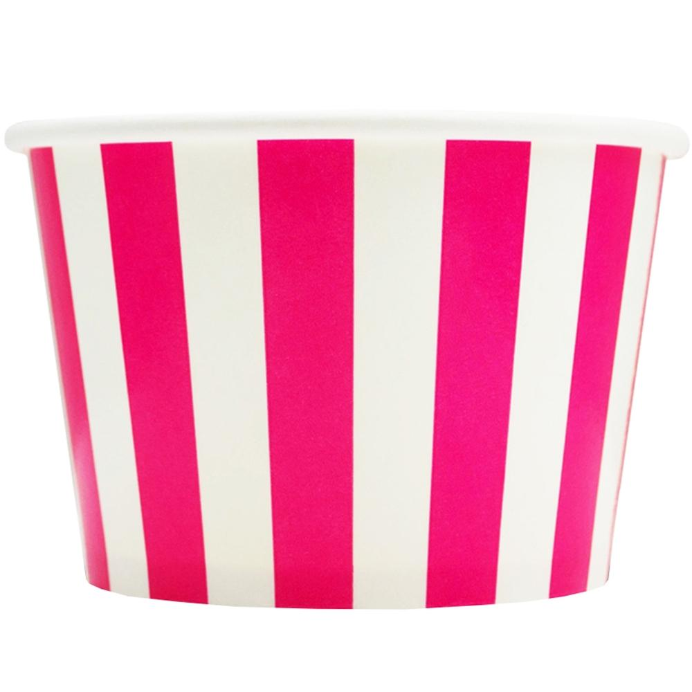 UNIQ 8 oz Pink Striped Madness Take Out Cups