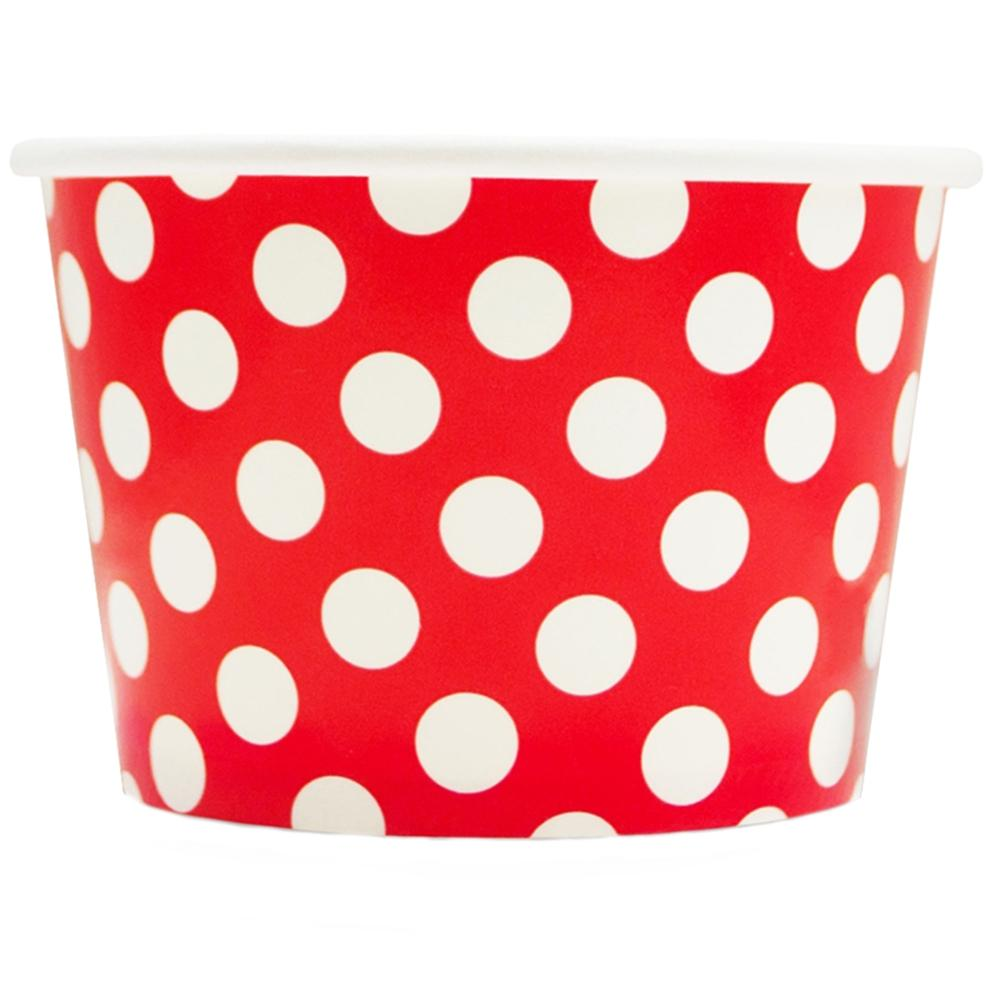 UNIQ 8 oz Red Polka Dotty Take Out Cups