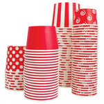 UNIQ 8 oz Red Striped Madness Take Out Cups