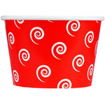 UNIQ 8 oz Red Swirls and Twirls Take Out Cups