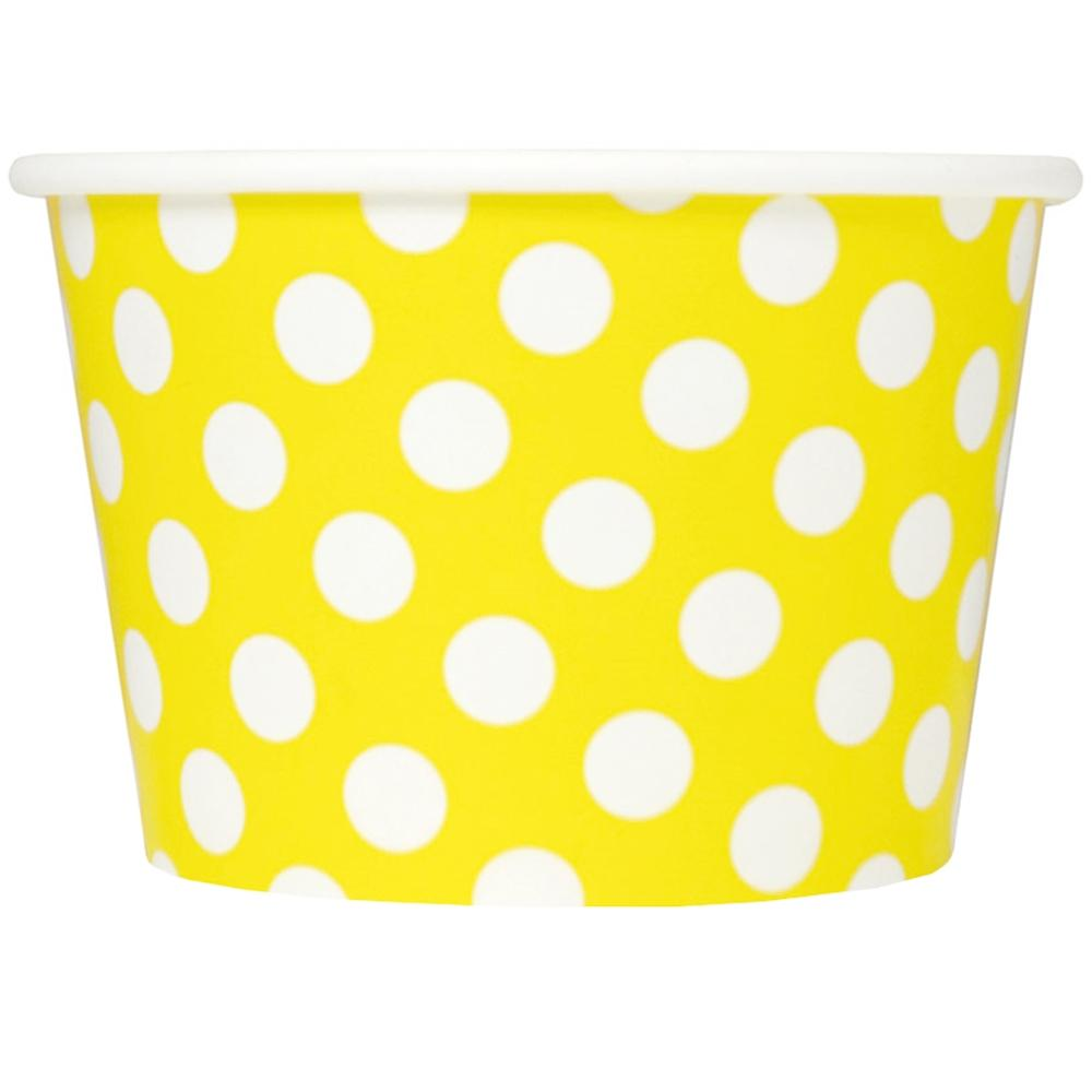 UNIQ 8 oz Yellow Polka Dotty Take Out Cups