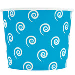 UNIQ 16 oz Blue Swirls and Twirls Take Out Cups