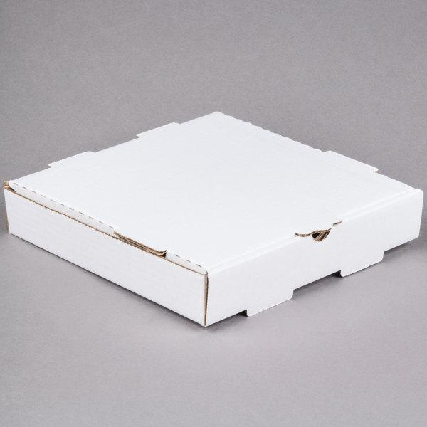 "10"" x 10"" x 1 3/4"" White Pizza Box"