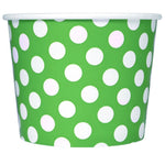 UNIQ 16 oz Green Polka Dotty Take Out Cups