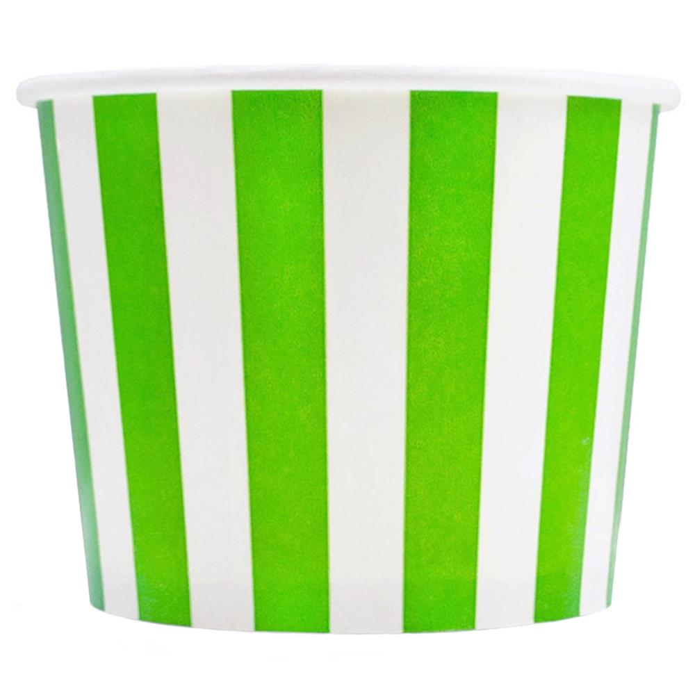 UNIQ 16 oz Green Striped Madness Take Out Cups