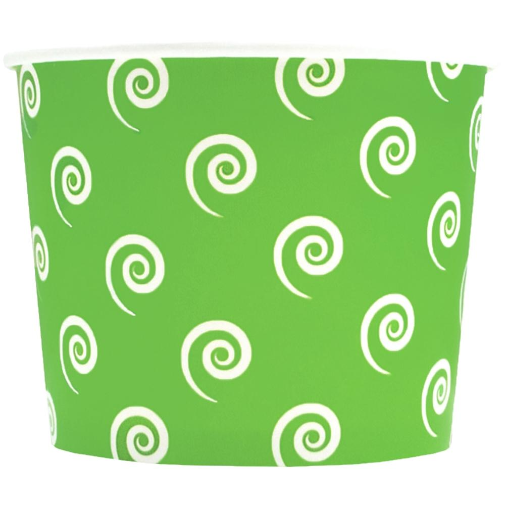 UNIQ 16 oz Green Swirls and Twirls Take Out Cups