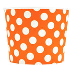 UNIQ 16 oz Orange Polka Dotty Take Out Cups