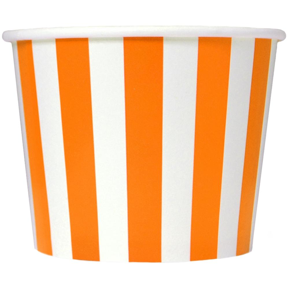 UNIQ 16 oz Orange Striped Madness Take Out Cups