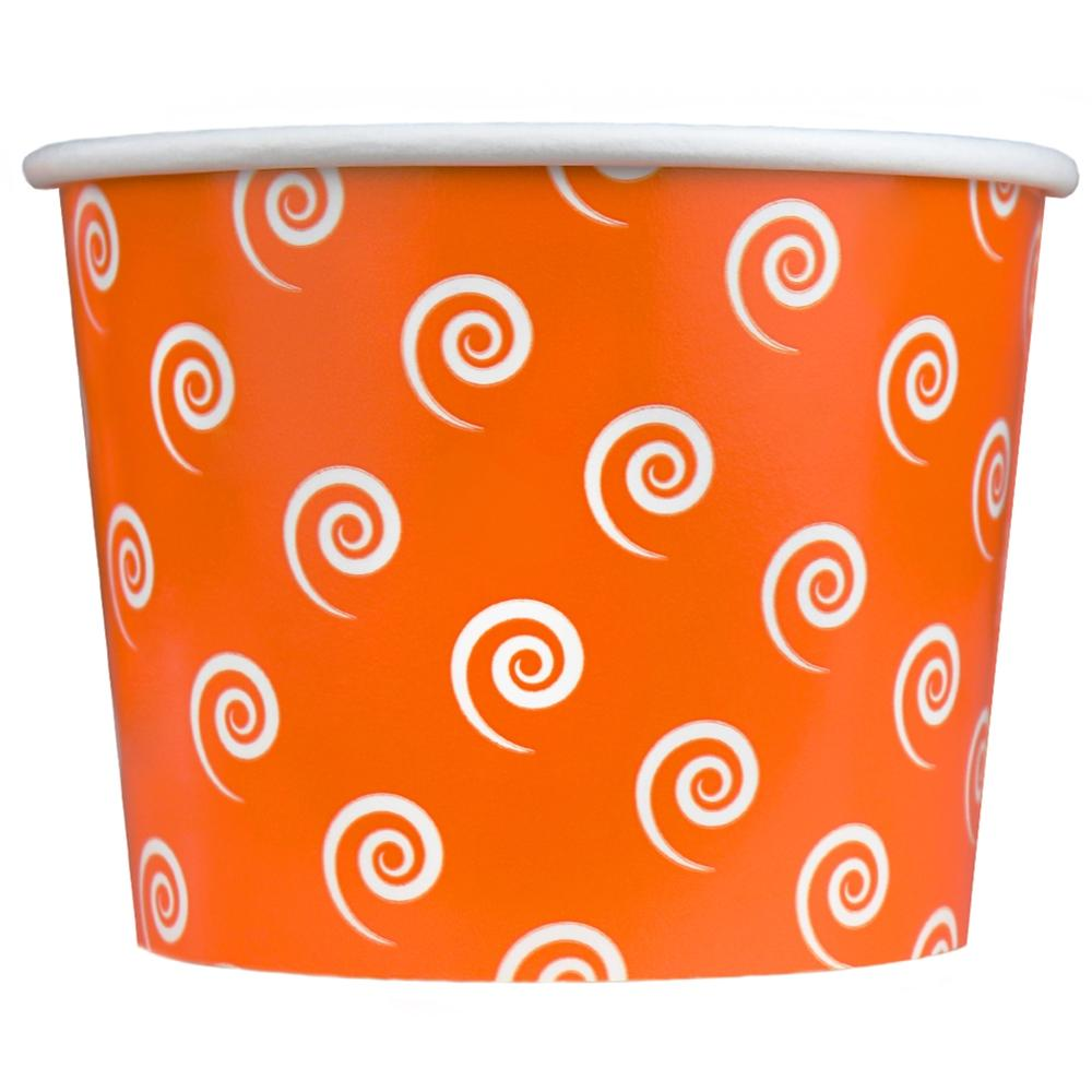 UNIQ 16 oz Orange Swirls and Twirls Take Out Cups