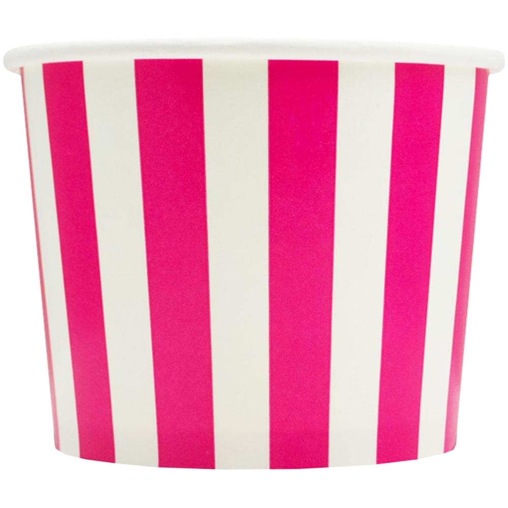 UNIQ 16 oz Pink Striped Madness Take Out Cups