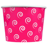 UNIQ 16 oz Pink Swirls and Twirls Take Out Cups