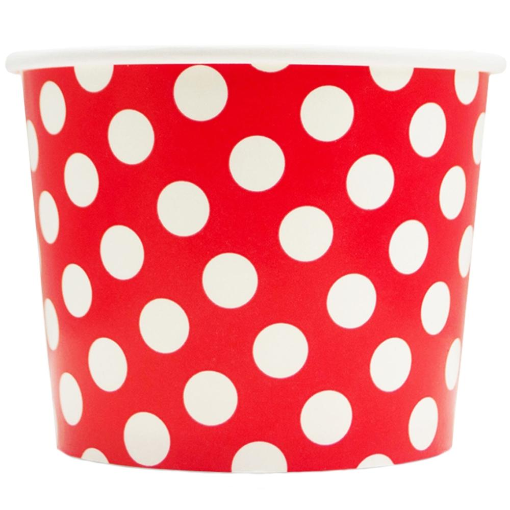 UNIQ 16 oz Red Polka Dotty Take Out Cups