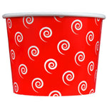 UNIQ 16 oz Red Swirls and Twirls Take Out Cups