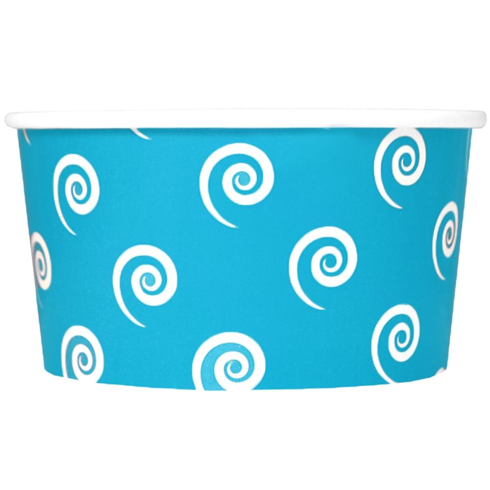 UNIQ 6 oz Blue Swirls and Twirls Take Out Cups