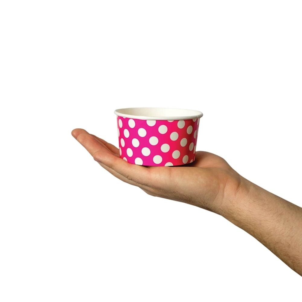 UNIQ 6 oz Pink Polka Dotty Take Out Cups
