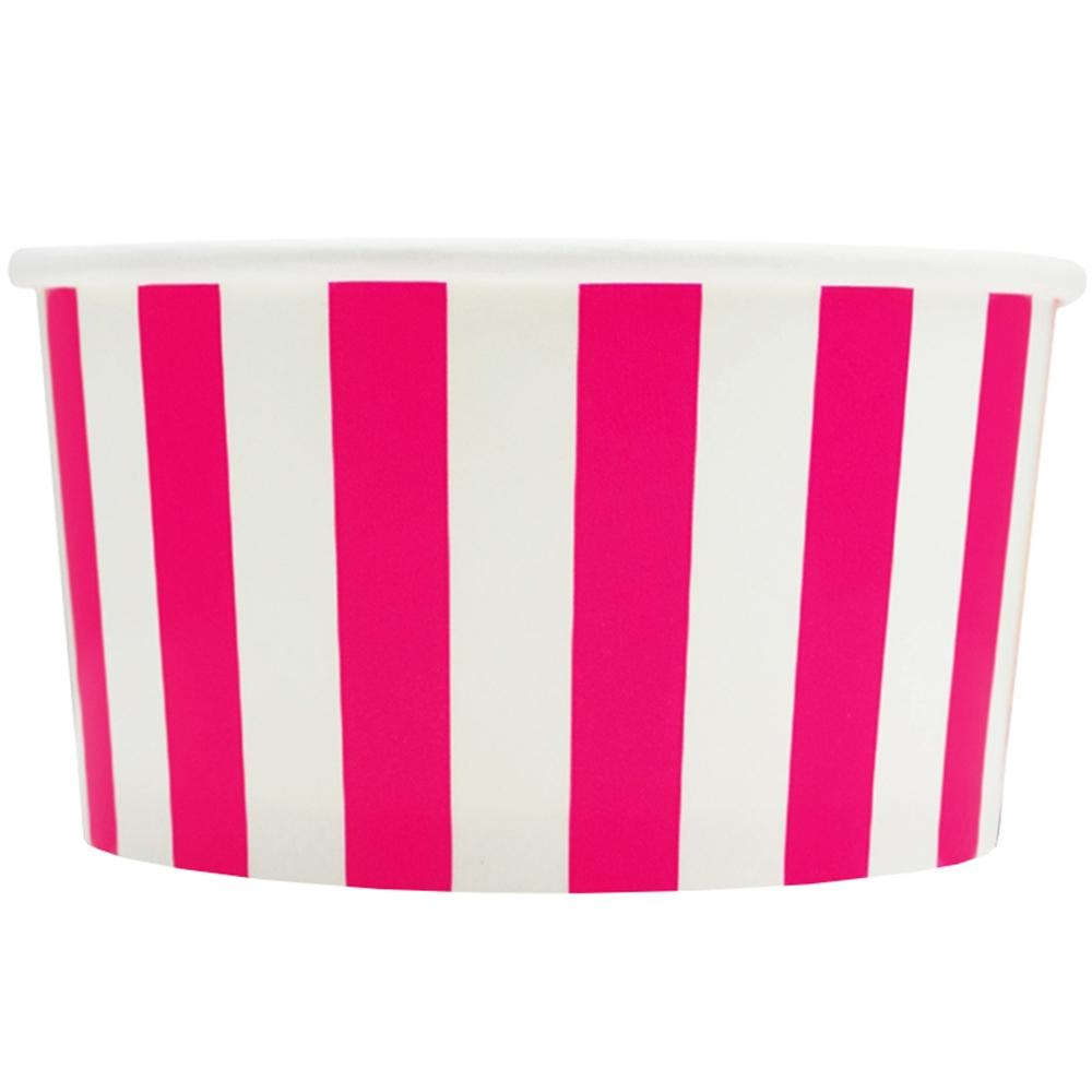 UNIQ 6 oz Pink Striped Madness Take Out Cups